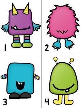 Monster Counting Freebie by Miss Kindergarten Love   Teachers Pay Teachers