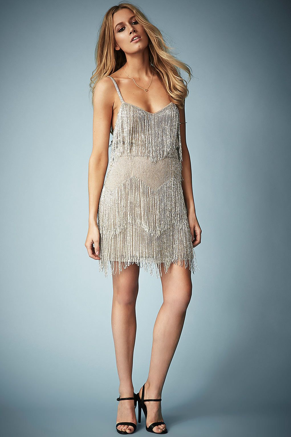 Beaded Fringe Tiered Dress by Kate Moss for Topshop - Kate Moss for ...