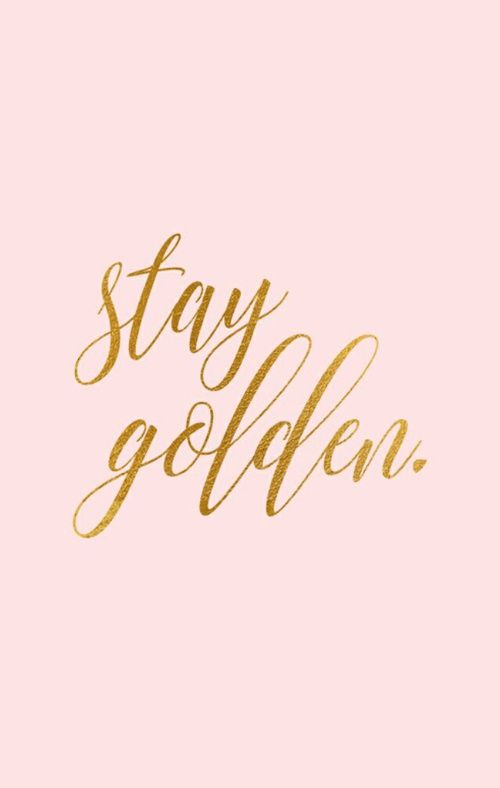 Imagem De Gold Pink And Quote Wall V I B E Quotes Gold