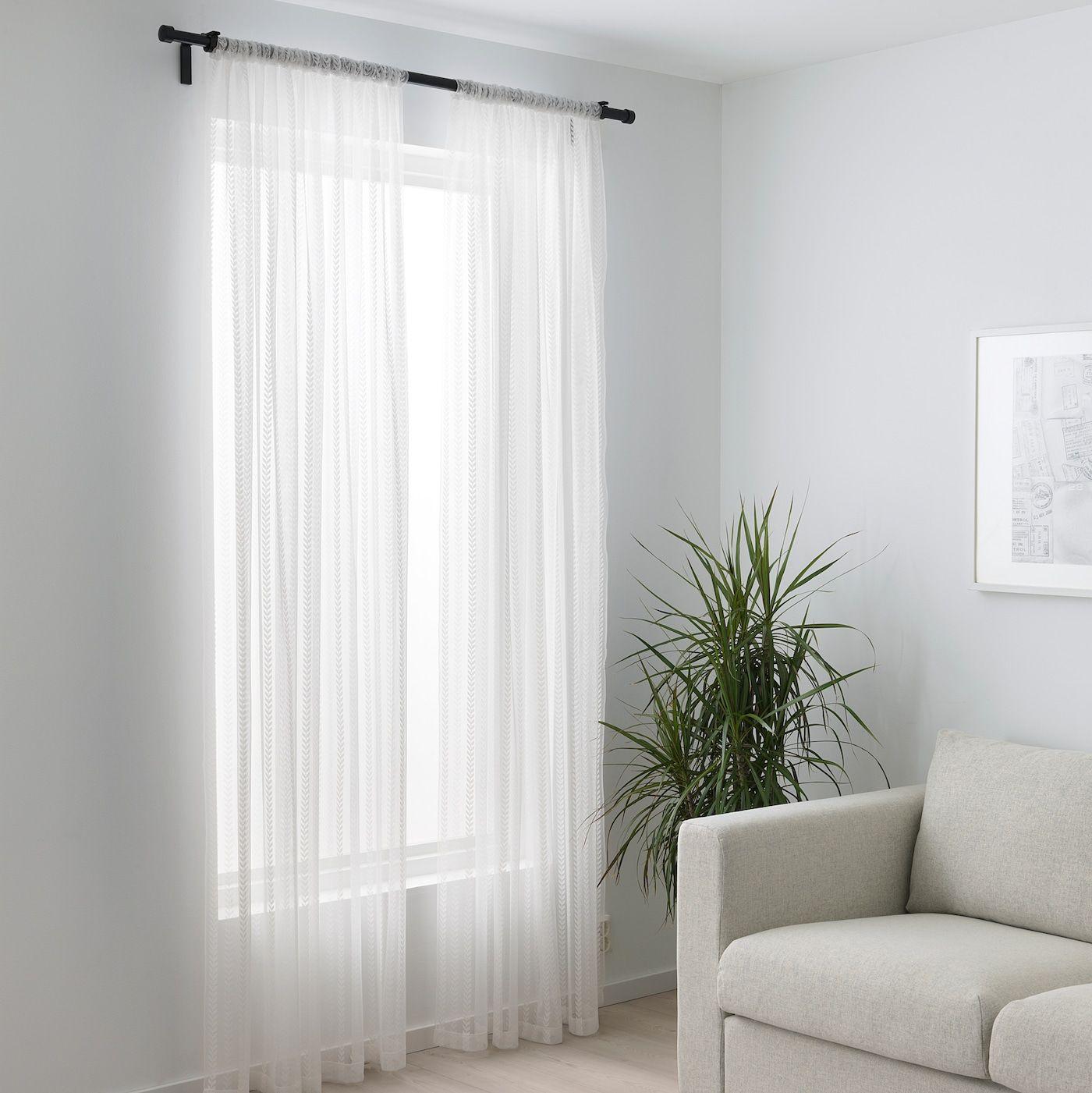 IngbjÖrg Gardinenstore Paar Weiß Pfeil Vorhänge Wohnzimmer Schlafzimmer Vorhänge Vorhänge