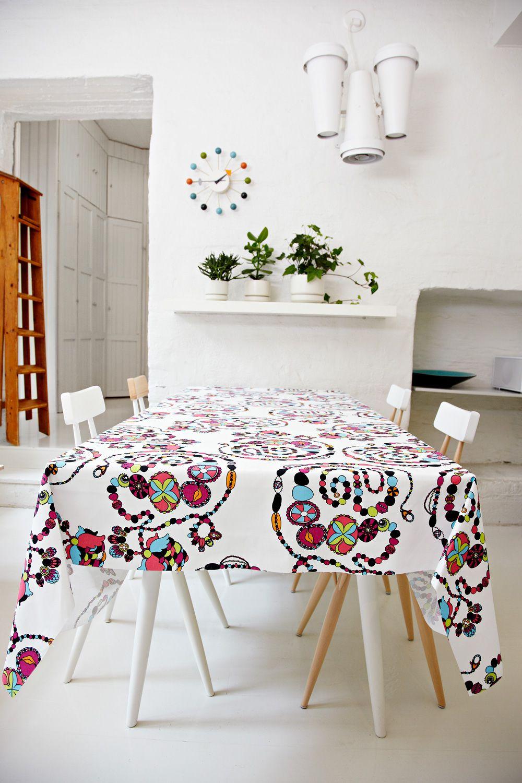 Finlayson Kaulaketju thicker cotton fabric I Kaulaketju- paksumpi puuvillakangas 23 € / m