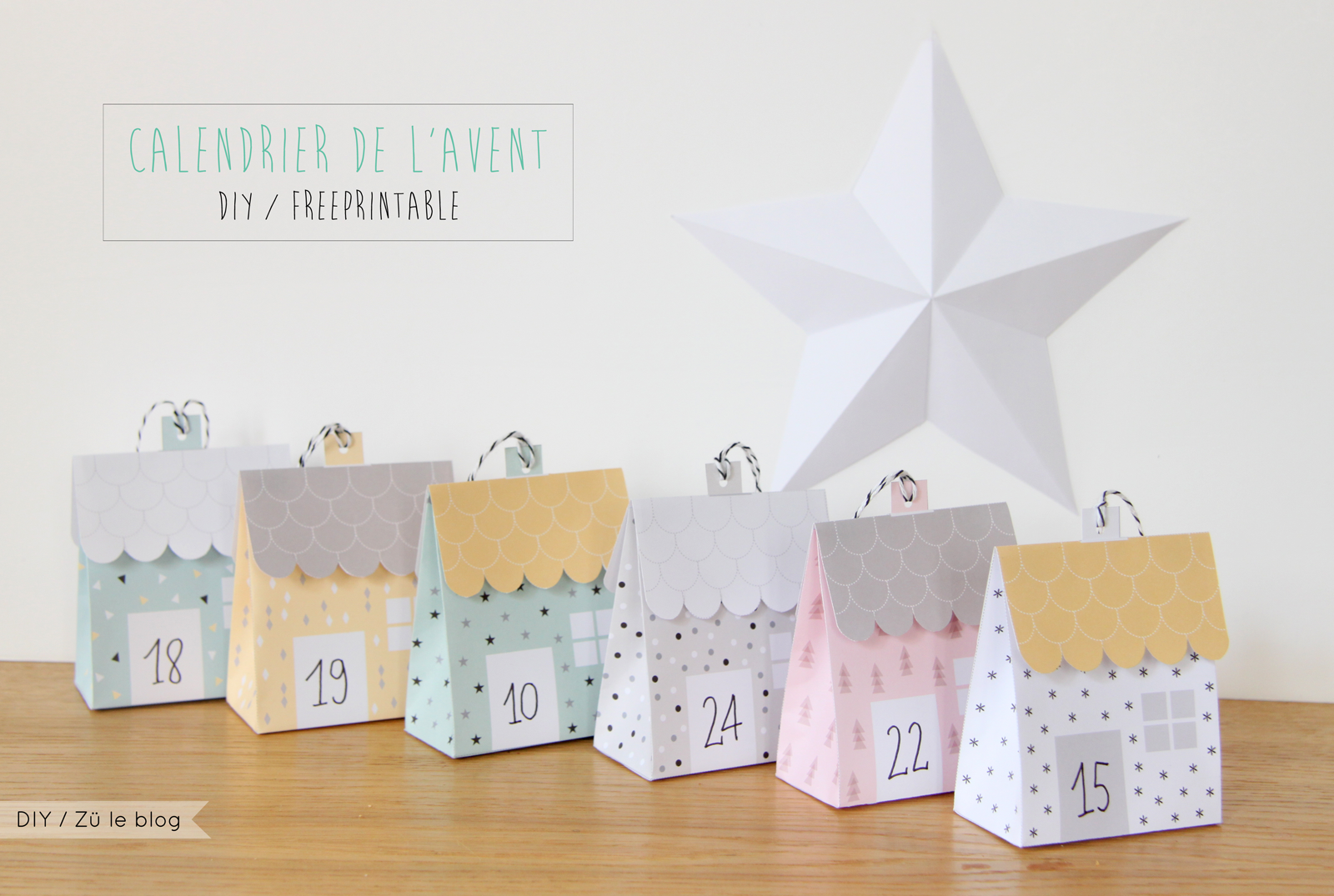 diy calendrier de l 39 avent petites maisons advent calenders advent calendars and free printable. Black Bedroom Furniture Sets. Home Design Ideas