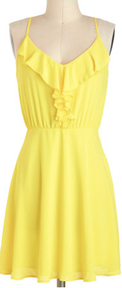 9f4783b7b8b5 Yellow ruffled summer dress