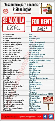 Vocabulario Para Encontrar Piso  Idiomas    Twitter
