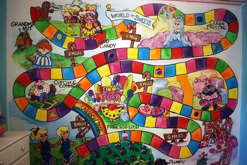 Candyland Baby Room Wall Mural Baby rooms Pinterest Wall