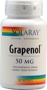Grapenol for hjerte og kretsløp, ved bloduttredelser, trette og hovne ben. En sterk antioksidant som forsinker aldringsprosessen.