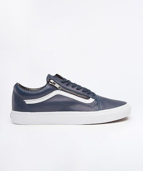 e062e6e6b8 Vans Old Skool Zip Leather Trainer