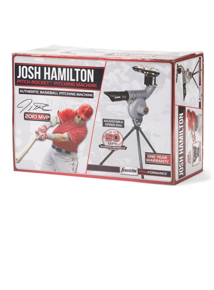 c1bec84e2 Franklin Pro Performance MLB Josh Hamilton Pitch-Rocket Pitching Machine   299 http