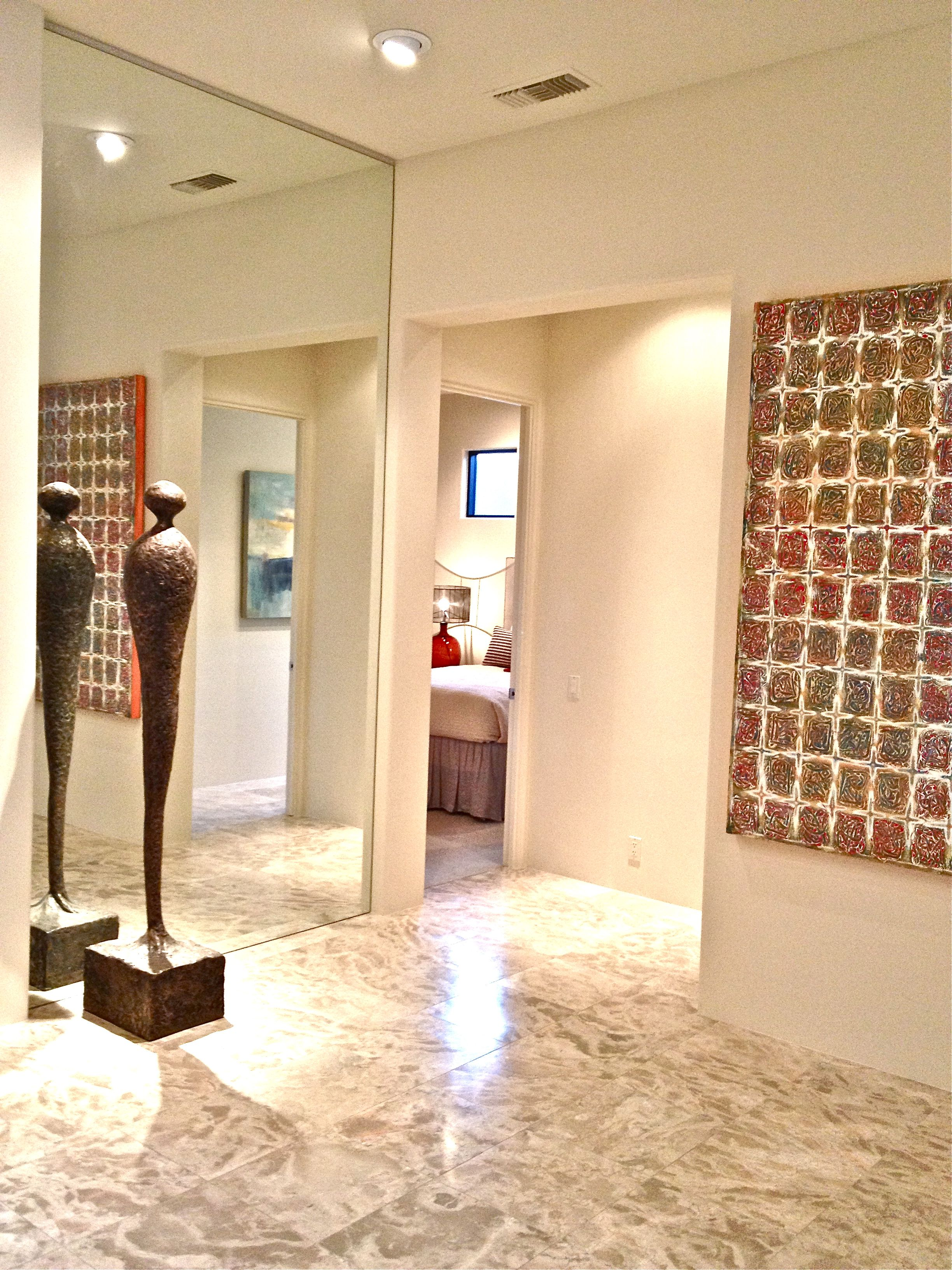 Entry- Modern sculpture, modern wall art, mirror wall. | •Natural ...