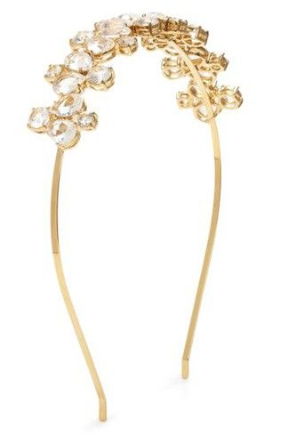 13 Wedding Headpieces That Aren't Tiaras #refinery29  http://www.refinery29.com/wedding-hair-accessories#slide-10  Kate Spade Fiorella Headband, $65, available at Kate Spade.