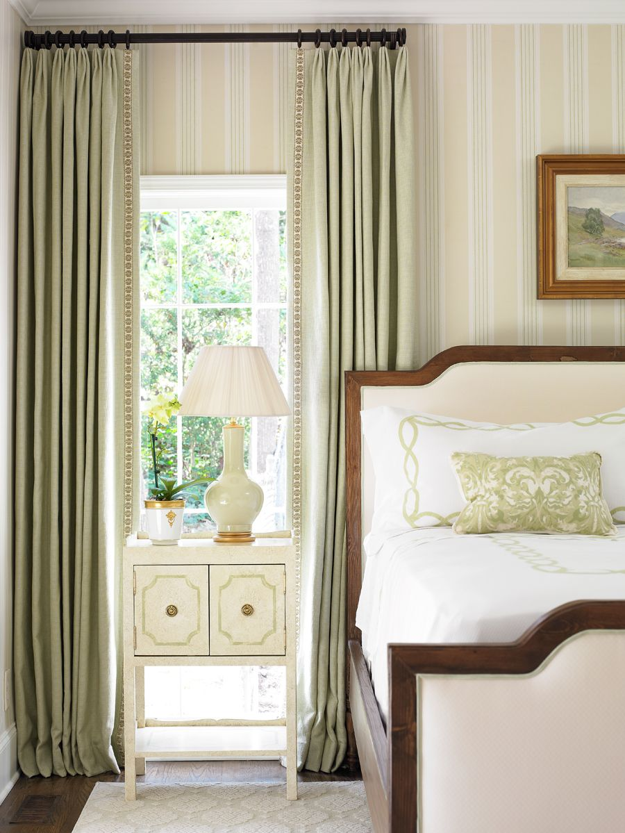 Master bedroom curtains  Gorgeous Home from Allison Hennessy  Headboard designs Bedrooms