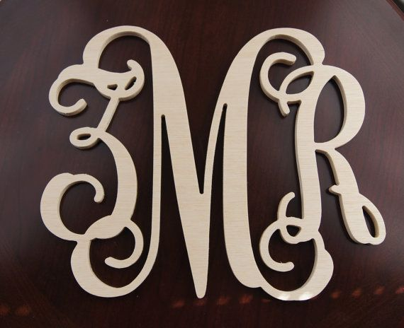 Inch Wooden Letter Monogram Wall Decal Monogram Nursery Decor - Monogram wall decals wood