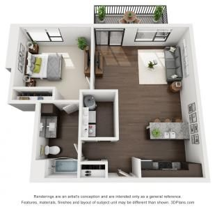 1 Bed 1 Bath 846 Sq Ft Apartment Layout House Plans Sims House