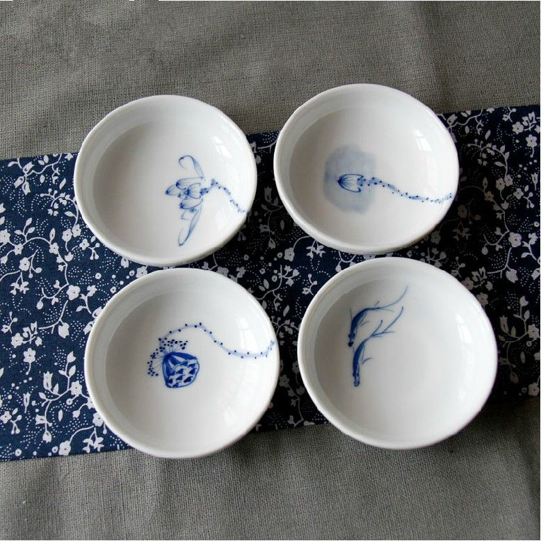 Find More Pottery Enamel Information About The Manual Painting Lotus Pond Fish Fun Printing Blue And White Porcelain The Tea Ceremony Chinese Ceramics White Porcelain Tea Ceremony