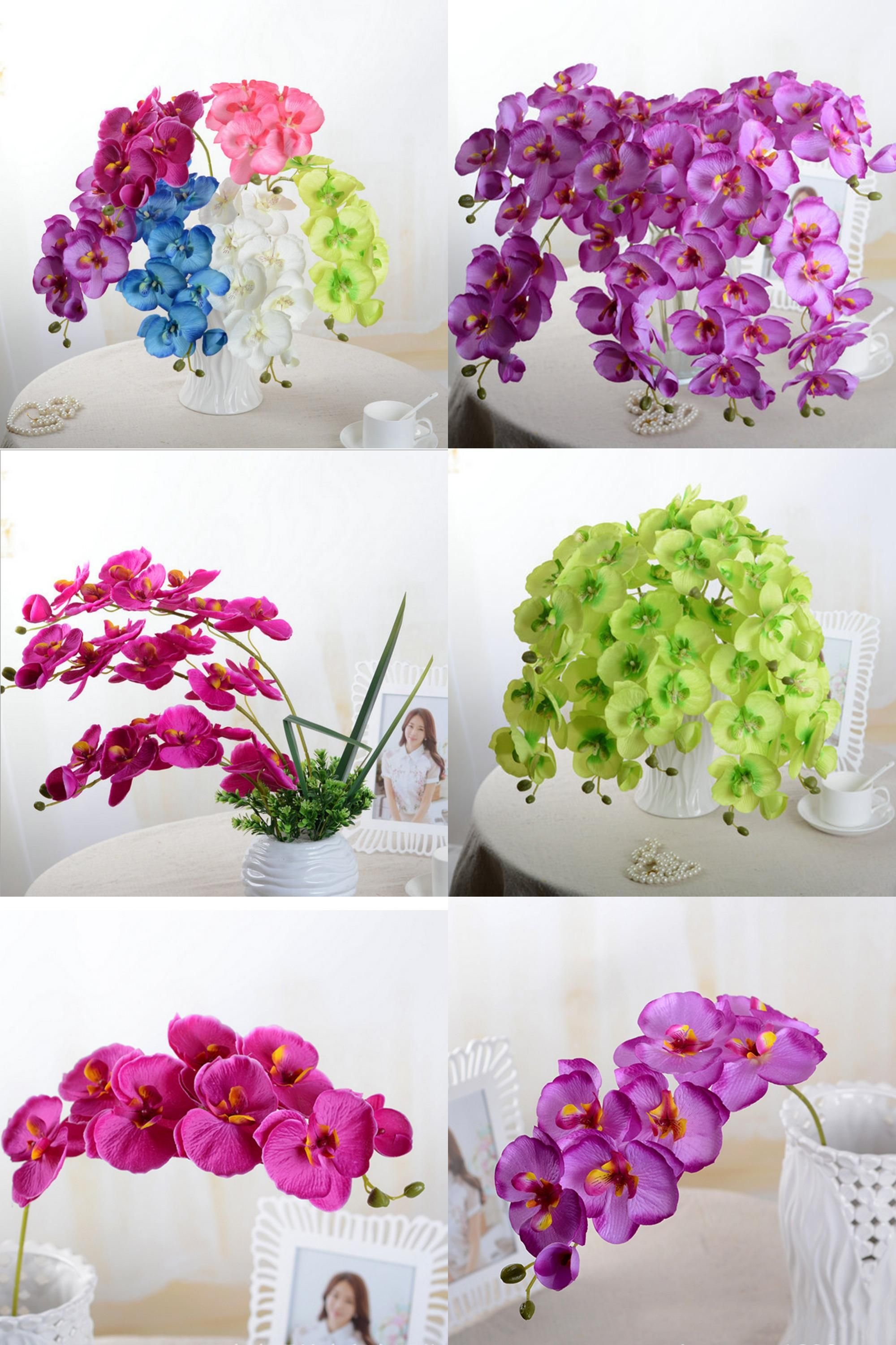 Visit to buy artificial butterfly orchid silk flower bouquet visit to buy artificial butterfly orchid silk flower bouquet phalaenopsis wedding home decor fashion diy living room art decoration izmirmasajfo