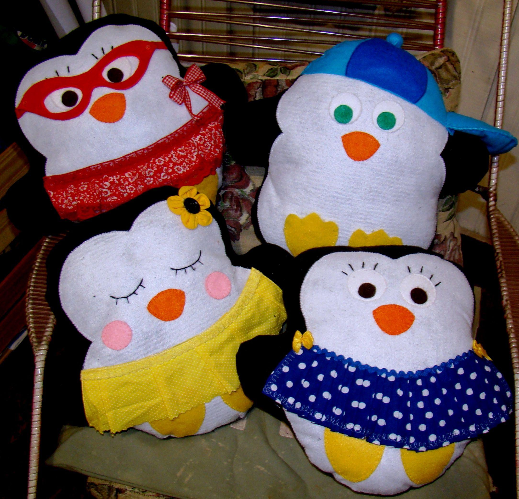 Almofadas Pinguins