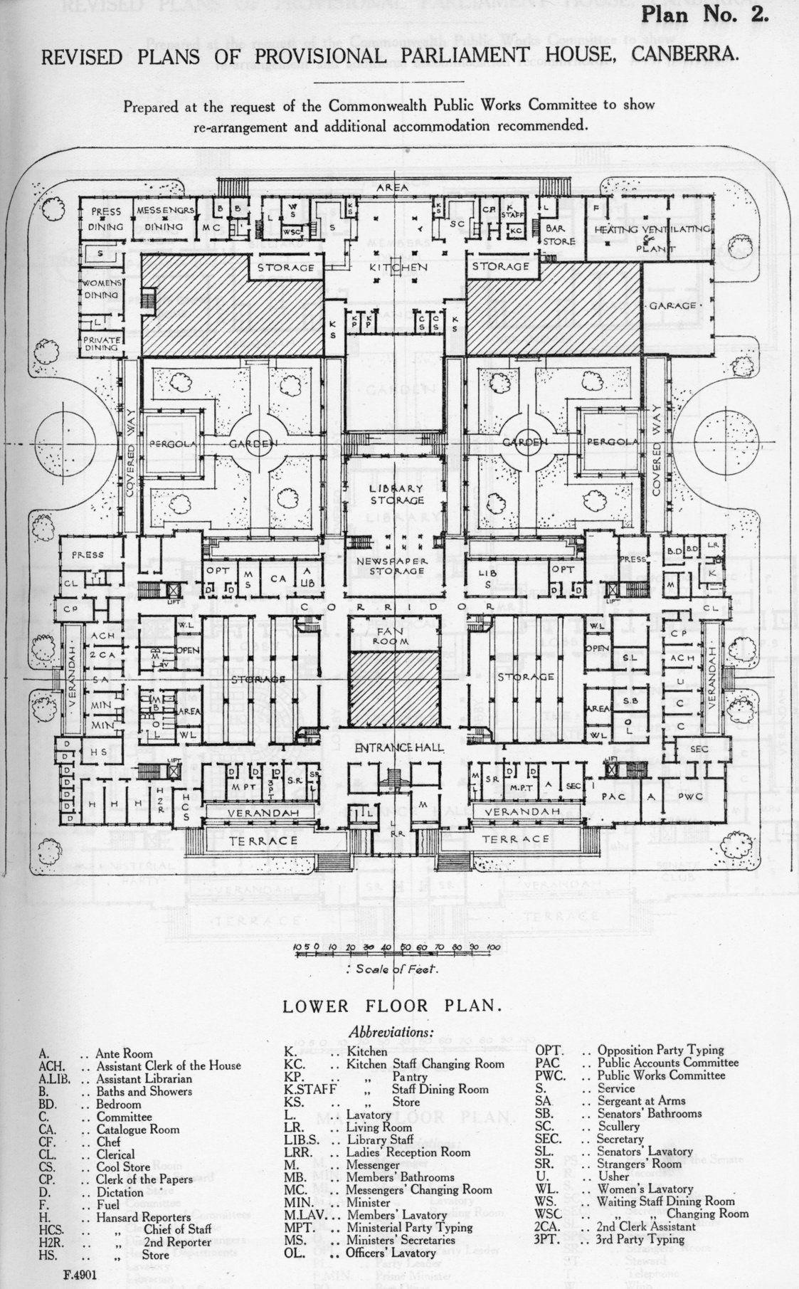 Revised Lower Floor Plans Of