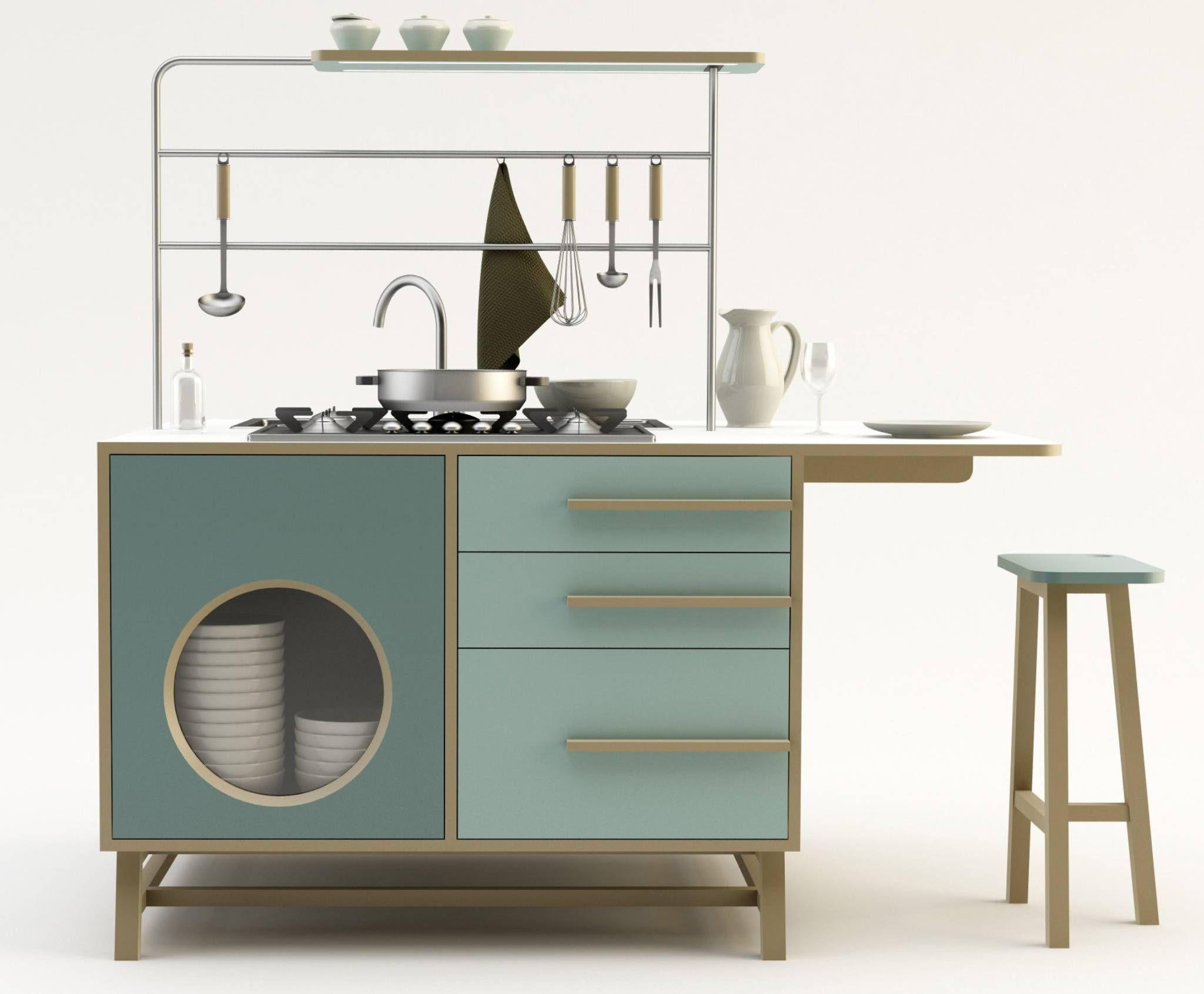 Monoblocco happy kitchen_design mood in stile industriale