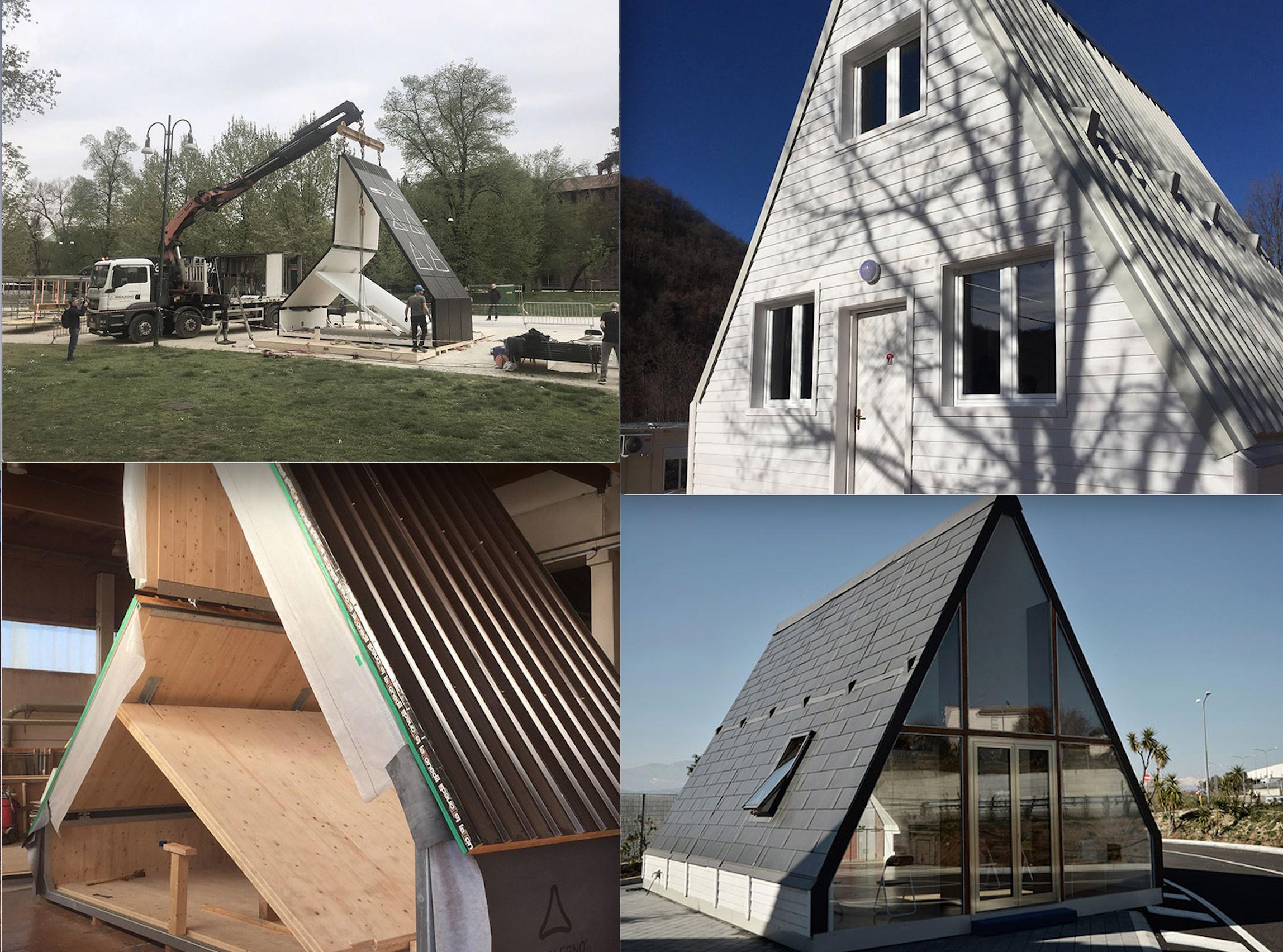 Foldable modular A-frame home