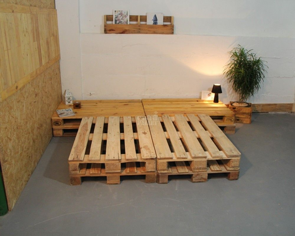Cama de casal 2 niveis de palete casa com pallet rj for Cama palets