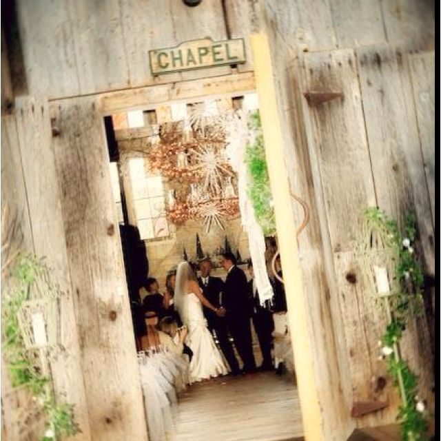 Ceremony Inside The Rustic Barn That Was Converted Into A