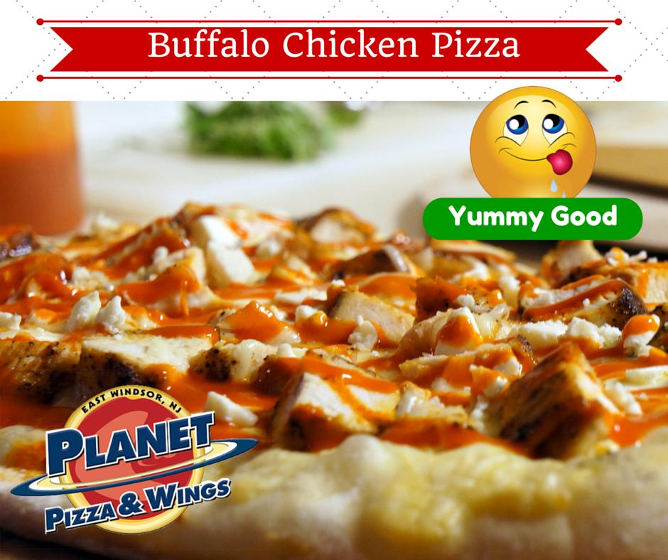 Try out extra YUMMY Buffalo Chicken Pizza. #BuffaloChickenPizza #SpicyGood