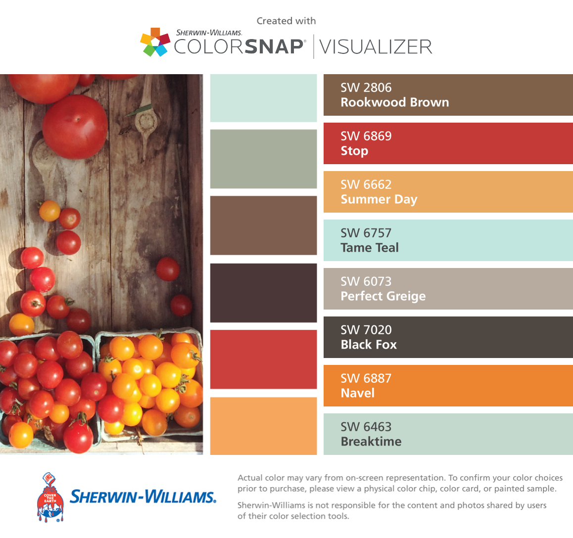 ade253134d I found these colors with ColorSnap® Visualizer for iPhone by  Sherwin-Williams  Rookwood