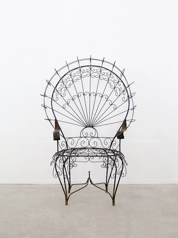 Antique Wrought Iron Chair Peacock Chair On Etsy 1 381 22 Aud