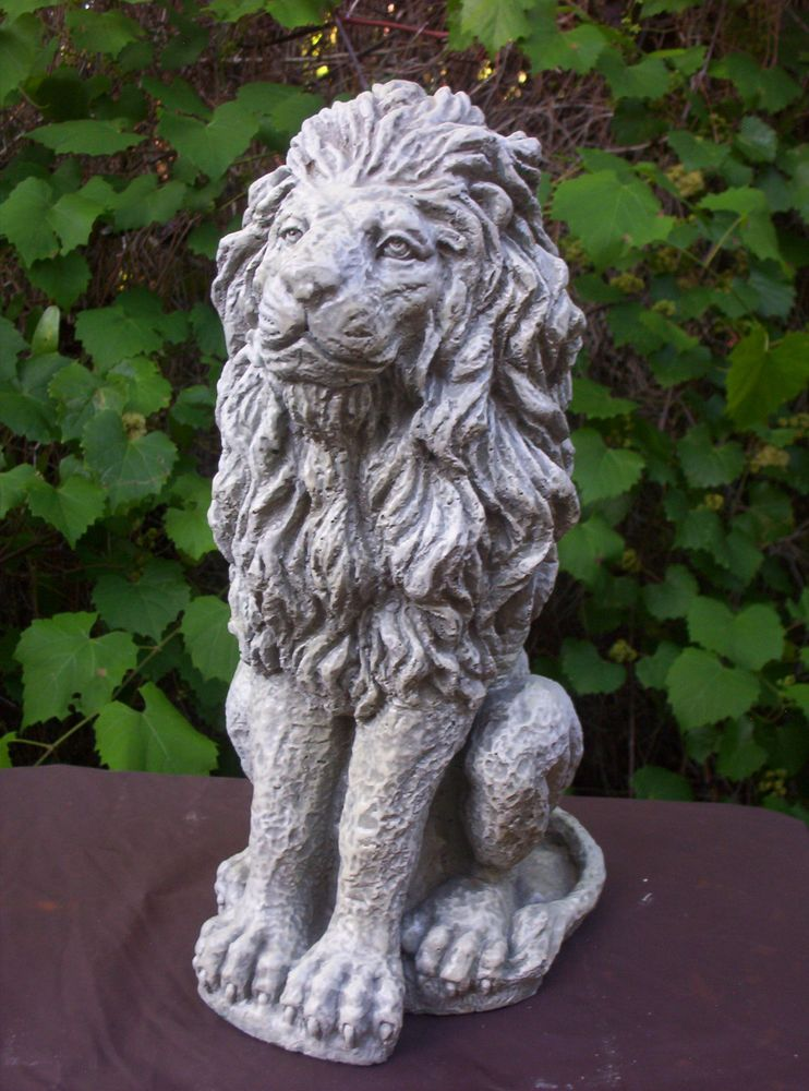 Latex Rubber Mold that Makes a Concrete Statue of a REGAL STYLE LION