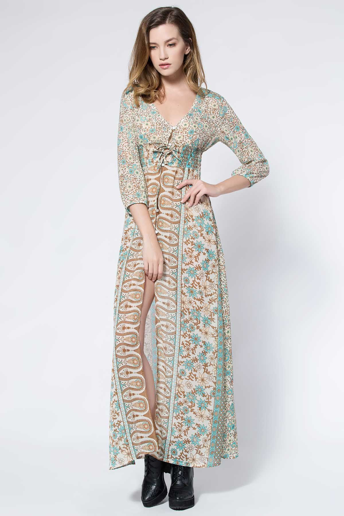 Sexy Off-The-Shoulder Pure Color Asymmetrical Maxi Dress For Women ...