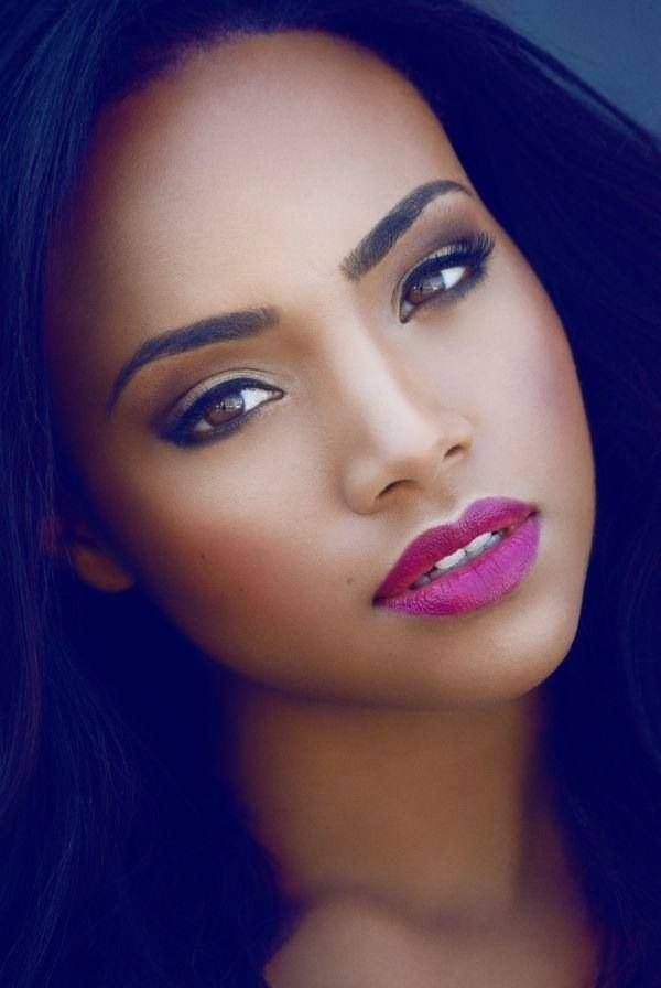 Black Beauty. Perfect pink lipstick on dark skin. | Pink ...