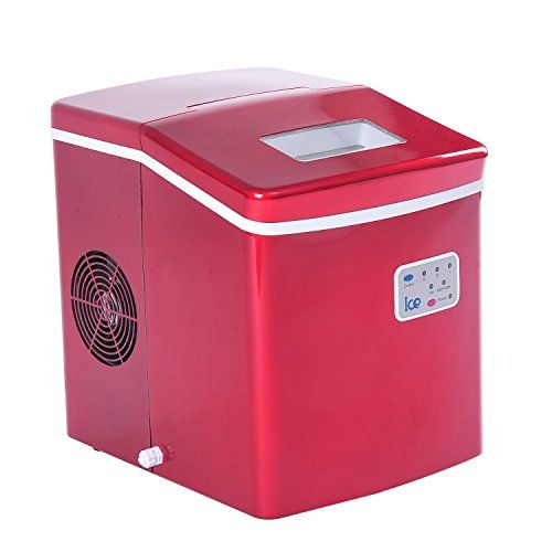 Homcom 26lbs Portable Countertop Ice Cube Maker Red Homcom Red