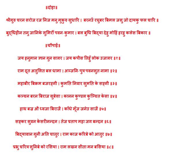 Hanuman aarti lyrics hindi