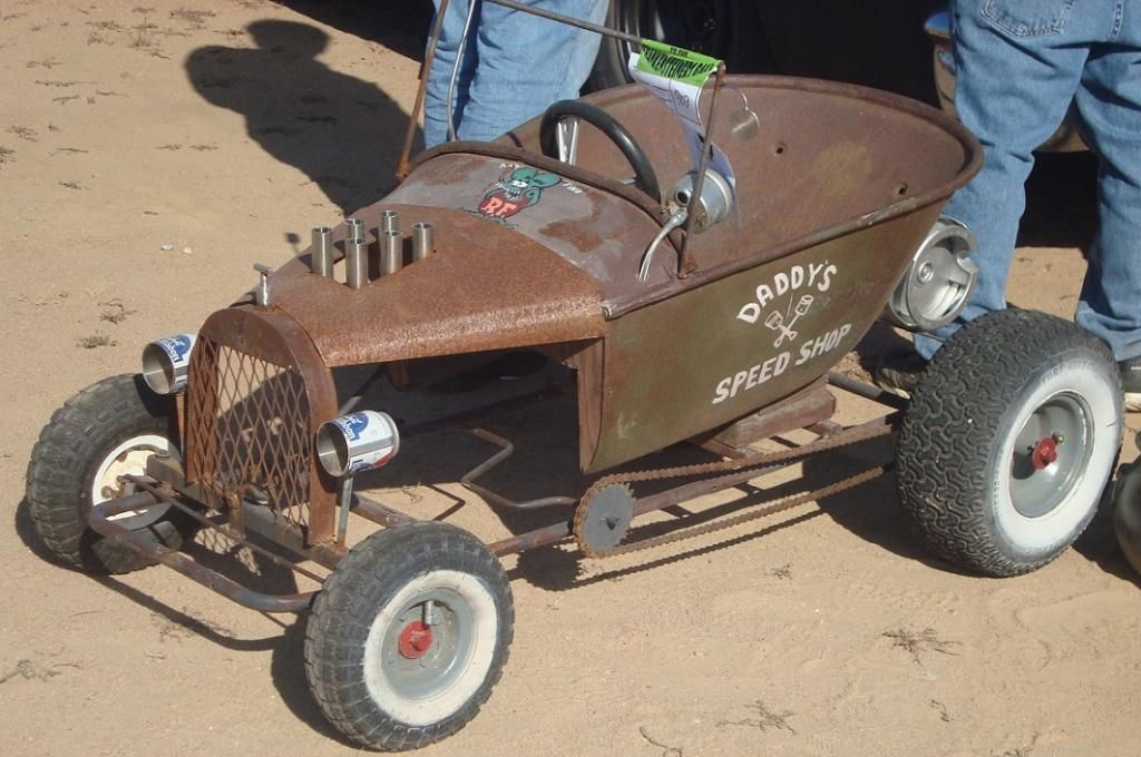 Rat Tot Rod Made From A Wheel Barrow And Other Scrap Parts Pedal