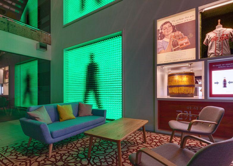 office space memorabilia. Coca-Cola HQ By MoreySmith Is Decorated With Vintage Memorabilia Office Space