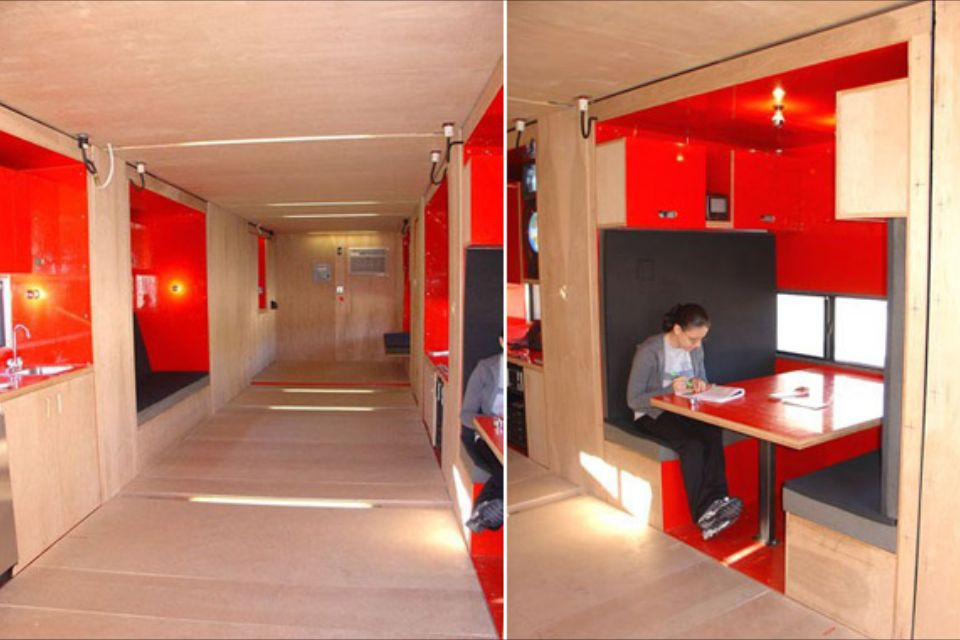 Shipping container home with pullouts. www.designboom.com/contemporary/tiny_houses2.html