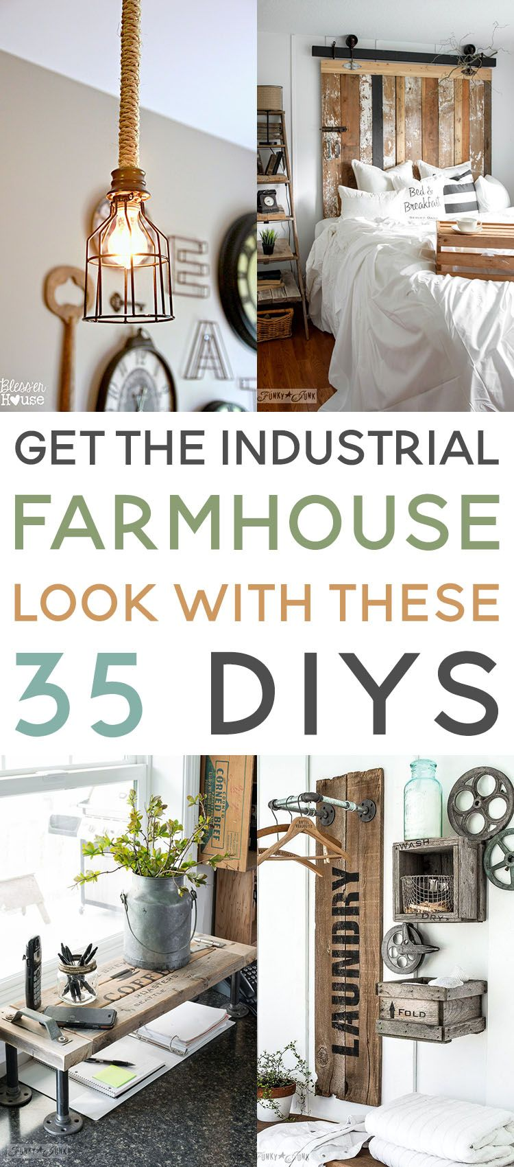 Amazing Budget Friendly Industrial Farmhouse DIYS - The Cottage Market