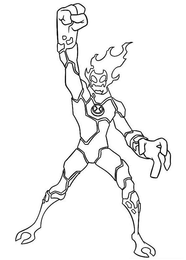 Heatblast Winning Position Coloring Page Download Print Online Coloring Pages For Free Color Ni Flag Coloring Pages Cartoon Coloring Pages Coloring Pages