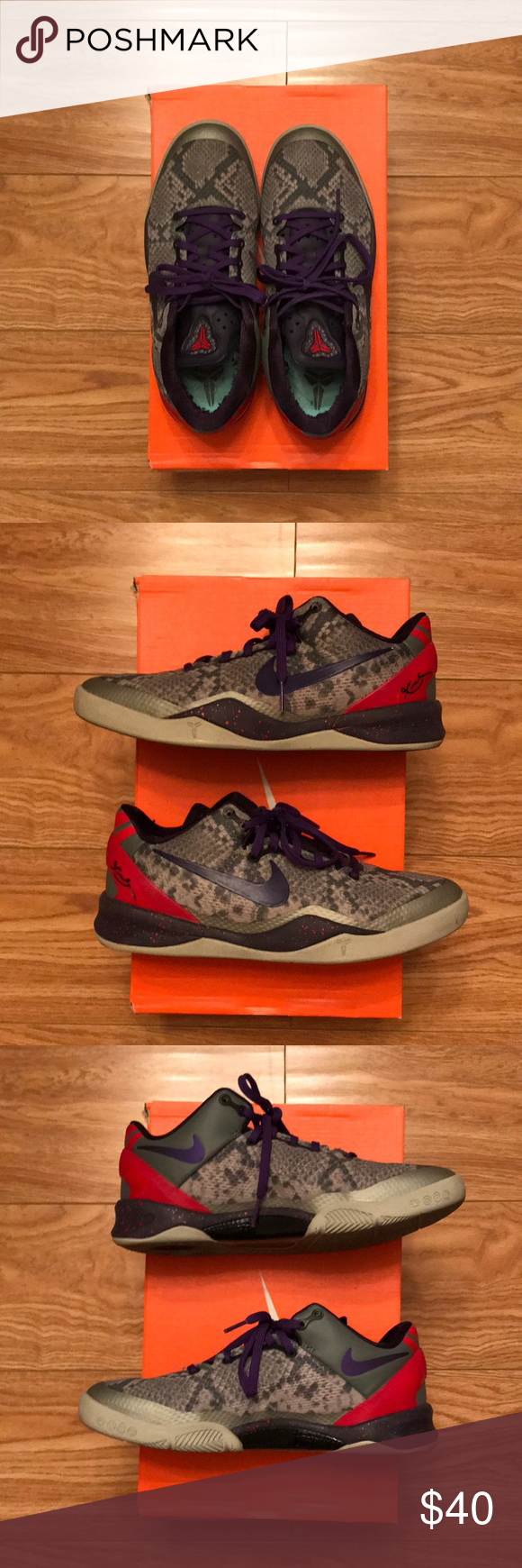 49a281215348 Kobe 8 Good condition Kobe 8 youth. Size is 5 youth. No rips or tears. One  of the best Kobe basketball shoes. Nike Shoes Sneakers