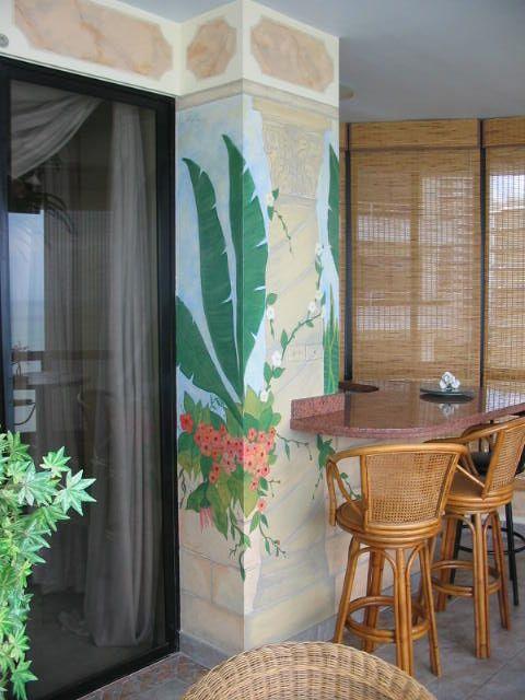 Pintura decorativa mural en terraza my interior design for Decoraciones para paredes de patios