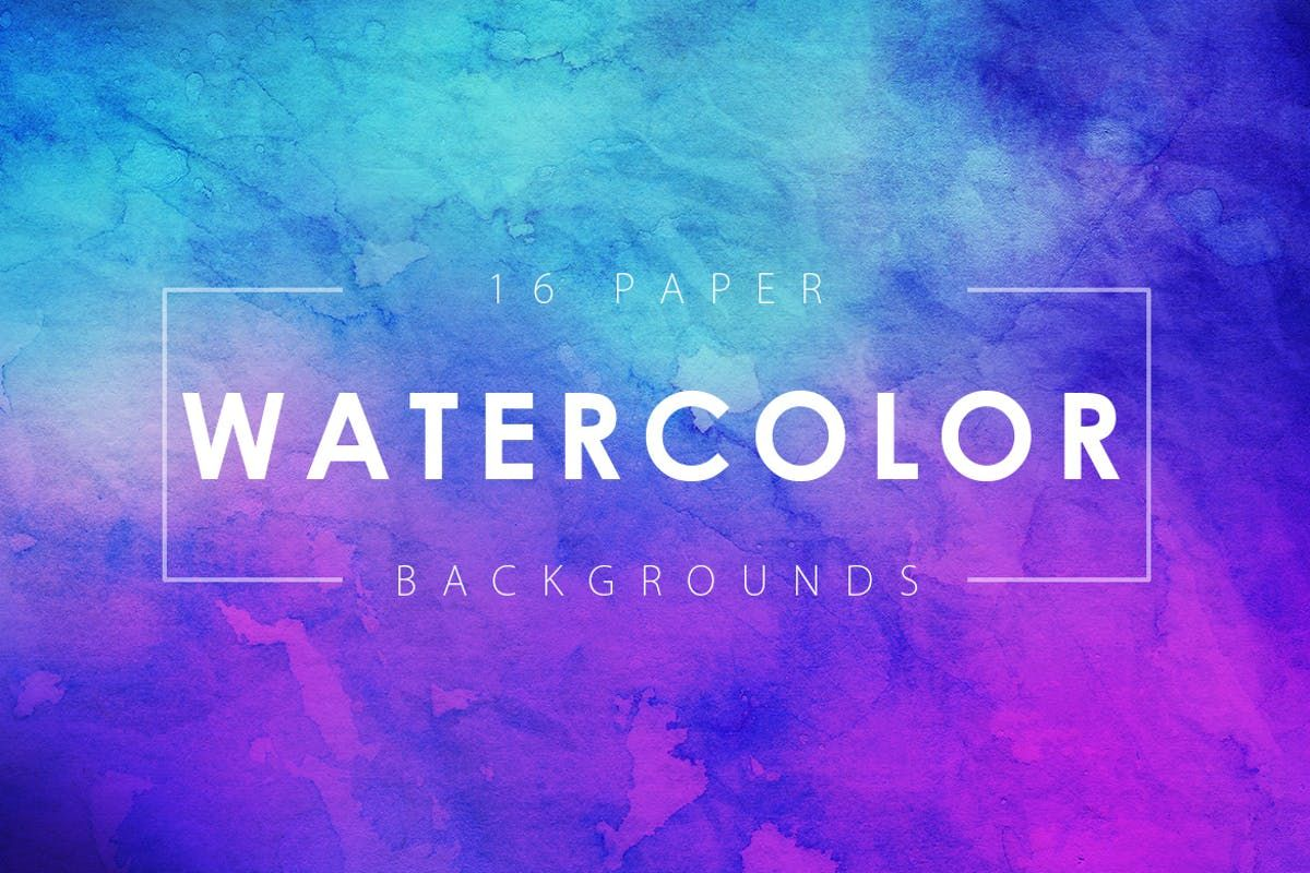 16 Watercolor Paper Backgrounds Vol 3 By M E F On Paper