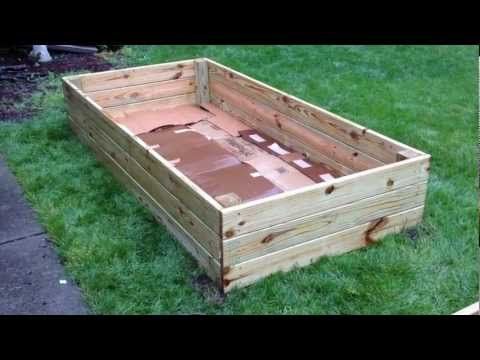 Video Tutorial For Easy And Inexpensive Raised Garden Bed 400 x 300