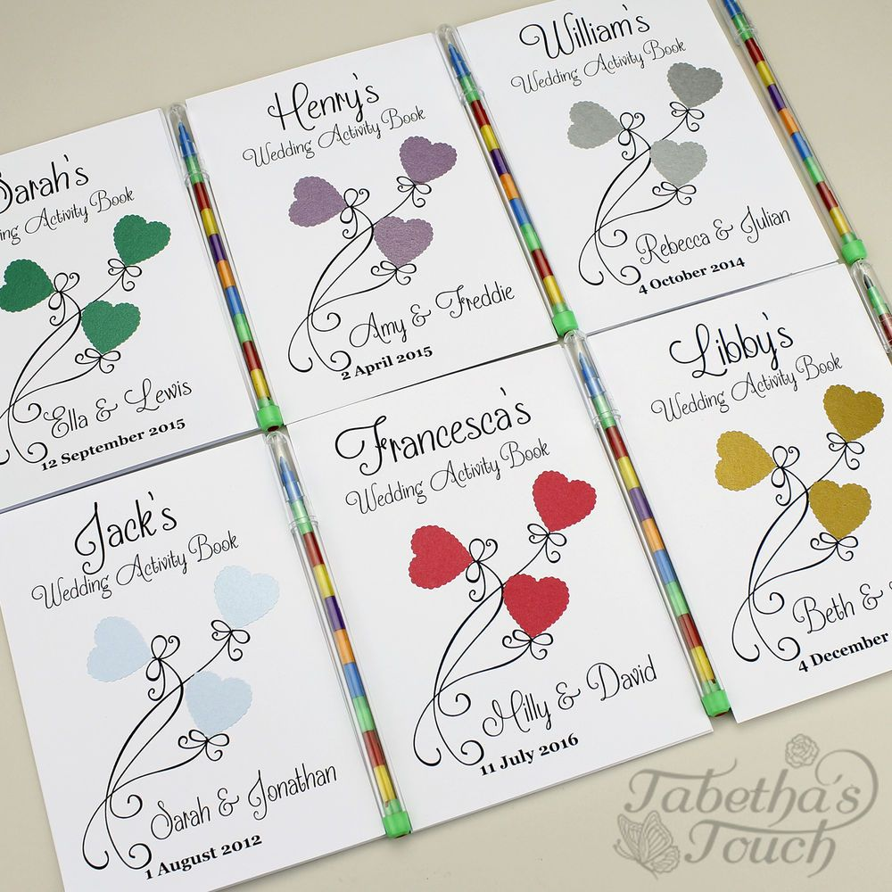 Childrens Personalised Wedding Activity Favour Book Gift Bag Pack ...