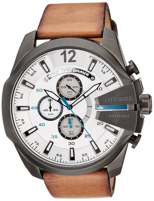 a00a81ec5a7 Buy Diesel Stopwatch Chronograph White Dial Men s Watch - DZ4280I Online at Low  Prices in India - Amazon.in