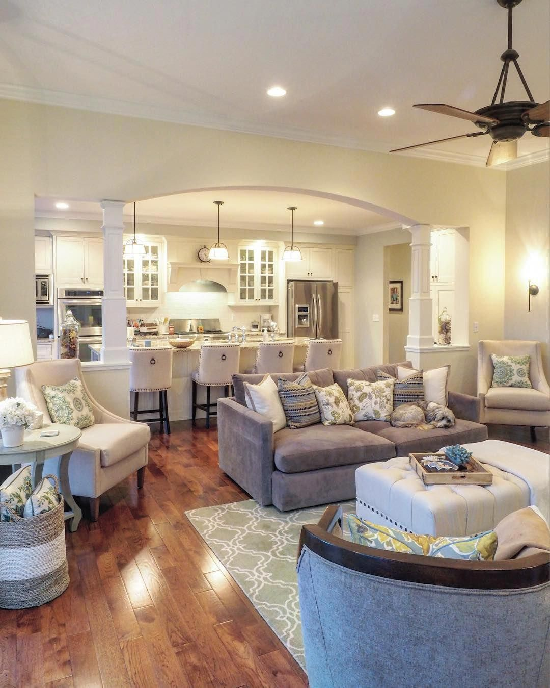 Love This Kitchen To Living Room Transition Livingroomdecor