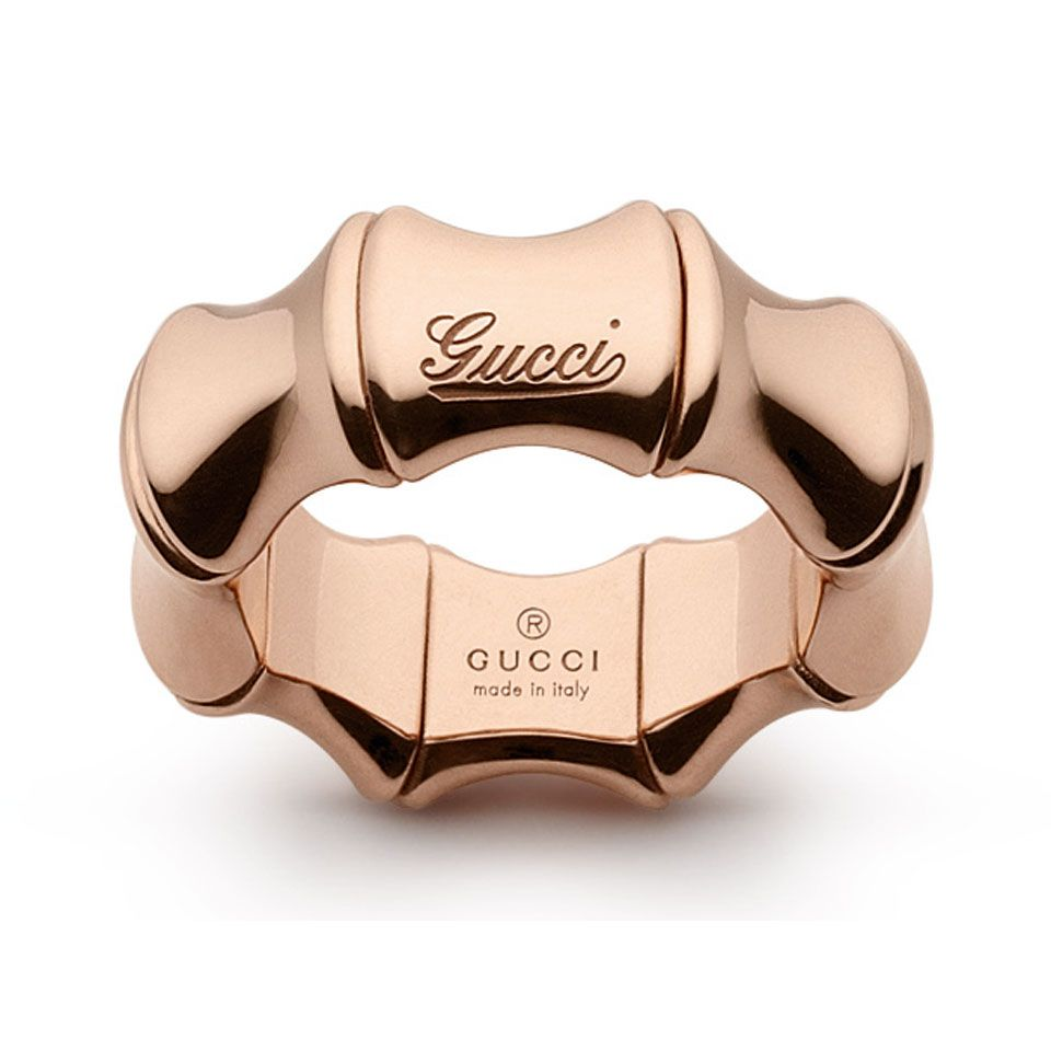 db8d771bf Gucci Bamboo 18-Karat Rose Gold Spring Ring #Ring #Gucci #Bamboo ...
