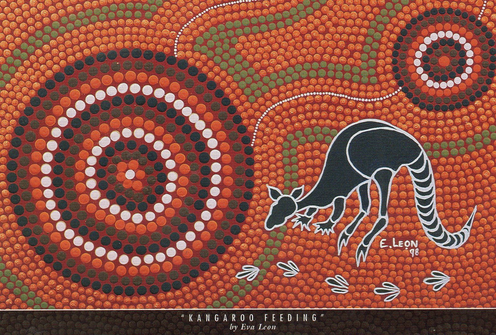 8821b785607fd4 AU-242457 Indigenous Aboriginal Art - Kangaroos Feeding - Australia. |  Flickr - Photo Sharing!