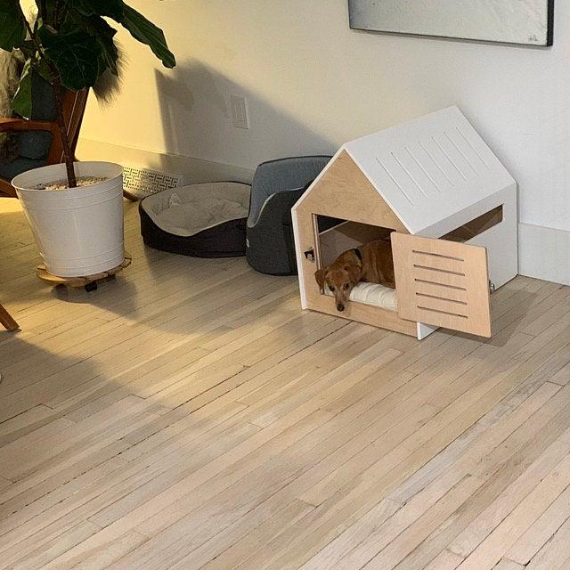Modern Dog House Indoor Wooden Dog House Dog Kennel Dog Etsy Wooden Cat House Modern Cat Bed Wooden Dog House