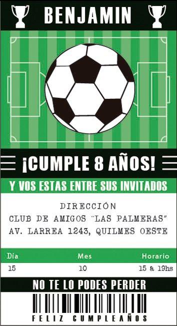 Image result for cumpleaños de fútbol Cumple de Tin en 2019 Invitaciones de cumpleaños