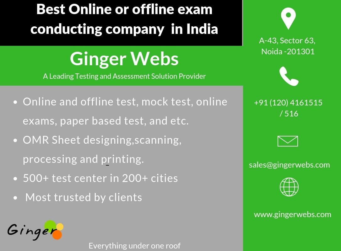 Ginger webs a leading testing and assessment solution provider In
